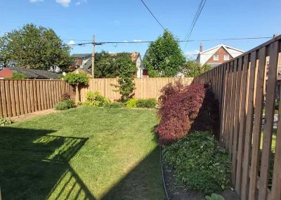 New Backyard Fence Hamilton Gadoury Contracting & Carpentry