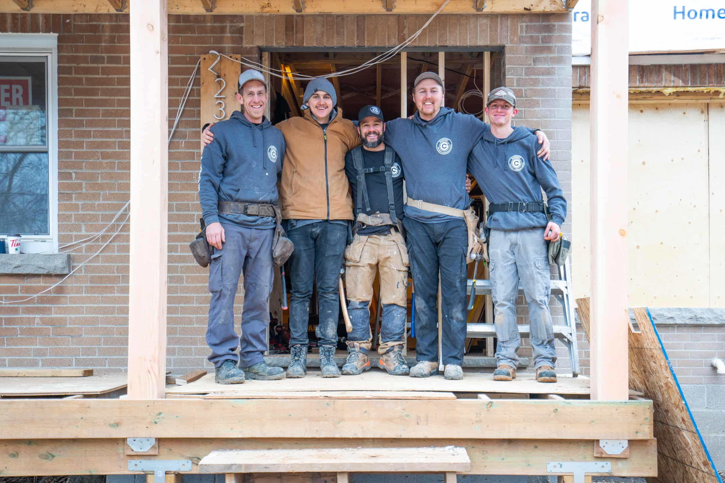 Gadoury Carpentry and Contracting Team Photo